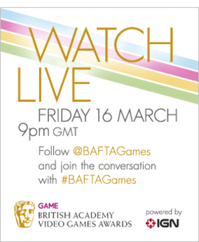 Watch the BAFTA Video Games Awards Live, 9pm, Friday 16 March