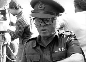 Producer/Director Richard Attenborough prepares to film a crowd scene for Gandhi (1982) with over 400,000 'extras'