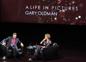 Oldman in conversation with Francine Stock (Picture: BAFTA / J. Simonds)