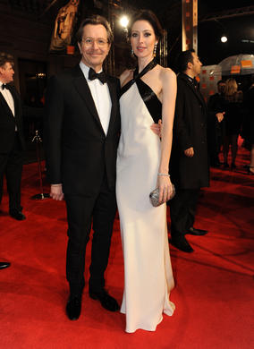 Tinker, Tailor, Soldier, Spy star and Leading Actor nominee Gary Oldman with his wife Alexandra.