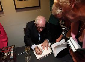Lewis Gilbert signs copies of his autobiography 'All My Flashbacks'