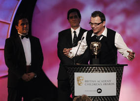 Glynn Hayward, Dylan James and Tony Collingwood collected the Interactive BAFTA for The Secret Show's website. The show also won the award for Animation