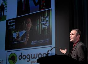 Andy Whittaker, founder of Dogwoof. Greening the screen. (Photography: J.Simmonds)