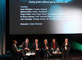 The Greening the Screen panel. (Photography: J.Simmonds)