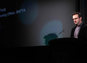 Kevin Price, Chief Operating Officer of BAFTA joins the panel. (Photography: J.Simmonds)