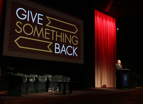 BAFTA Chairman John Willis at the launch of Give Something Back.