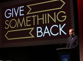 HRH The Duke of Cambridge delivering his speech at the launch of Give Something Back.