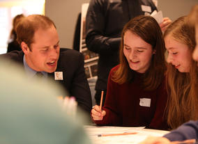 HRH The Duke of Cambridge at the re-launch of Young Game Designers.