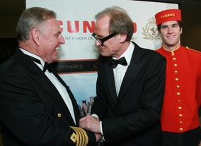 Bill Nighy meets event sponsors Cunard