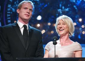 Presenters Paul Bettany and Helen Mirren