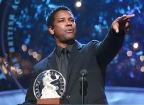 Denzel Washington, recipient of the Stanley Kubrick Britannia Award for Excellence in Film.