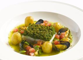 Herb Crusted Fillet Of Halibut