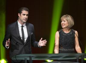 Television presenter Matt Johnson & news presenter Sian Lloyd hosted the ceremony