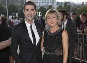 Ceremony hosts Matt Johnson & Sian Lloyd on the red carpet