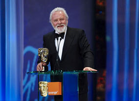 Anthony Hopkins accepts the Academy's highest honour - the Fellowship - stating