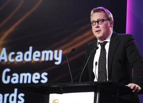 Host Vic Reeves introduces the Awards ceremony