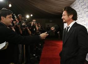 Sean Penn, recipient of the Stanley Kubrick Britannia Award for Excellence in Film 