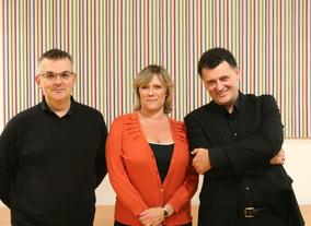 Steven Moffat &amp; Sue Vertue at the Kaleidoscopic Adaptations Festival on 9 September 2010.