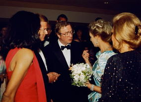 Michael Caine meets HRH Princess Alexandra