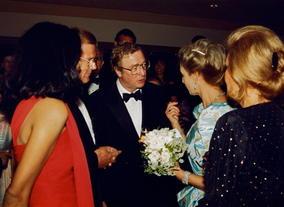 Michael Caine meets HRH Princess Alexandra