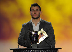England Rugby Union player Danny Care presents the BAFTA for International. Pic: BAFTA/Steve Finn