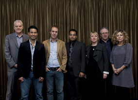From left:Jules Stenson - Former Associate Editor, Features, News of the WorldTheo Dorizac - Lawyer, Channel 4Richard Sanders - Freelance Producer/DirectorKrishnan Guru-Murthy - JournalistKaren Edwards - Executive Producer, October FilmsSteve Boulton - Executive Producer, Steve Boulton ProductionsSiobhan Sinnerton - Commissioning Editor, News & Current Affairs Channel 4