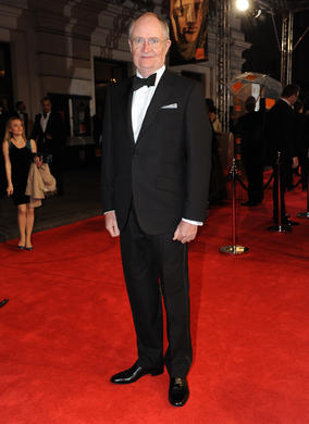 Broadbent is nominated for his performance as Denis Thatcher in The Iron Lady and has two previous wins, including Supporting Actor for Moulin Rouge. He is wearing Hackett.