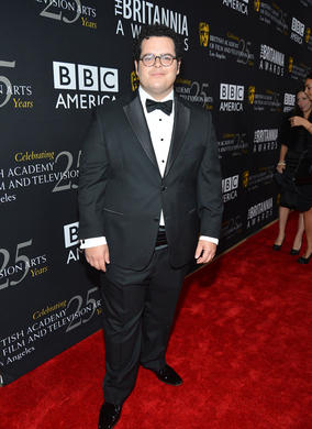Josh Gad presented the Charlie Chaplin Britannia Award for Excellence in Comedy to Trey Parker and Matt Stone.