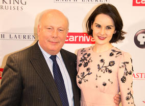 Julian Fellowes and Michelle Dockery