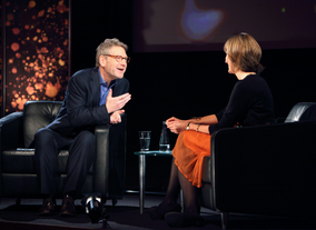 Journalist Francine Stock interviewed Mr. Branagh. (Picture: BAFTA / J. Simonds)