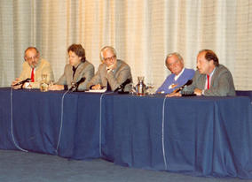Writers Guild and BAFTA debate with Hugh Whitemore, James Dearden, Alan Scott, David Lean & Nic Roeg (1988).