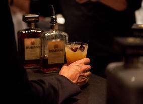 On 9 December 2012, the Silence of the Lambs actor spoke about his work at a special Life In Pictures event. Italian liqueur Disaronno provided the drinks in the bar afterwards.