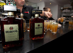 Bar Manager Graham (pictured) created some custom Disaronno cocktails especially for the event.