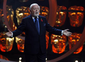 Academy Chairman Lord Attenborough on stage at Happy Birthday BAFTA
