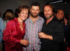 Lorraine Ashbourne, Andy Serkis and Randy Cook (BAFTA/Brian J Ritchie).