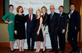 Jessica Pare, Christina Hendricks, Matthew Weiner, Kiernan Shipka, January Jones, John Slattery, Vincent Kartheiser and Jon Hamm