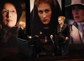 Presenter Mariella Frostrup talks to Meryl about her career highlights (BAFTA / Marc Hoberman).