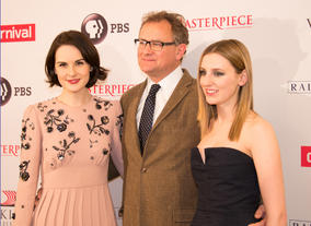 Michelle Dockery, Hugh Bonneville and Laura Carmichael