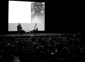 After showcasing the film, Gareth sits down for a Q&amp;A session (Pic: BAFTA/Camille Sales)