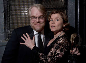 Philip Seymour Hoffman & Imelda Staunton at the British Academy Film Awards, held at the Odeon Leicester Square in 2006