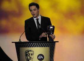 The Outnumbered actor presents the Pre-School Animation category. Pic: BAFTA/Steve Finn