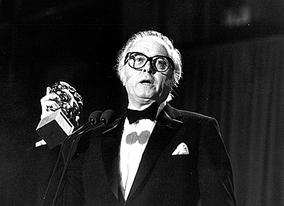 Richard Attenborough wins the Best Director BAFTA for his epic Gandhi in 1982.