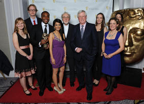Some of the show's past and present crew, including presenters Ore Oduba, Sonali Shah and John Craven.