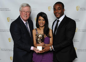 Original presenter John Craven with Sonali Shah (who recently finished after five years) and current presenter Ore Oduba.