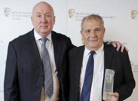 Winners of the Cineworld Audience Award 2013 - Ray Burdis and Mike Loveday, director and producer of _The Wee Man_