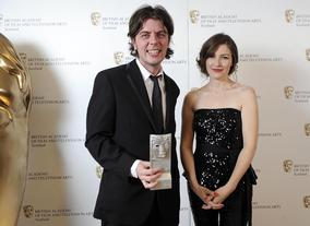 Kelly Macdonald presented the award for Feature Film to director Paul Wright for the film For Those In Peril.