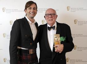 David Tennant presented Richard Wilson with the BAFTA in Scotland Outstanding Contribution to Film and Television Award.