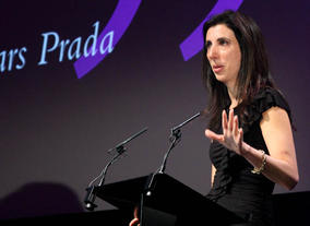 Screenwriter of The Devil Wears Prada Aline Brosh Mckenna talks at the Screenwriters' Lecture. (Photography: Jay Brooks)