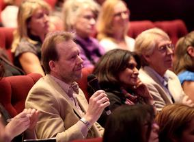 Audience questions at Aline Brosh Mckenna's screenwriters' lecture (Photography: Jay Brooks)