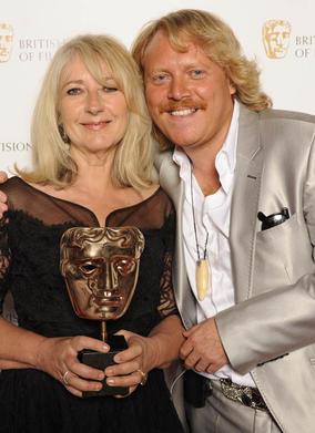 Winner of Make Up and Hair Dressing award Chrissie Baker for Mo, with comedien Keith Lemon